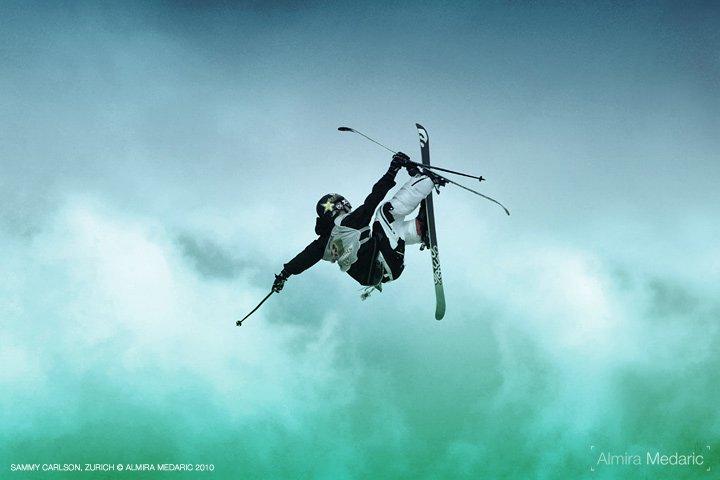 Sammy Carlson between air and water