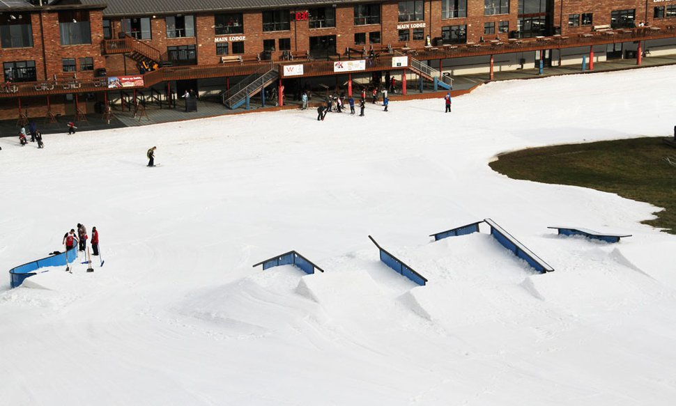 New Year's Eve Rail Jam Setup