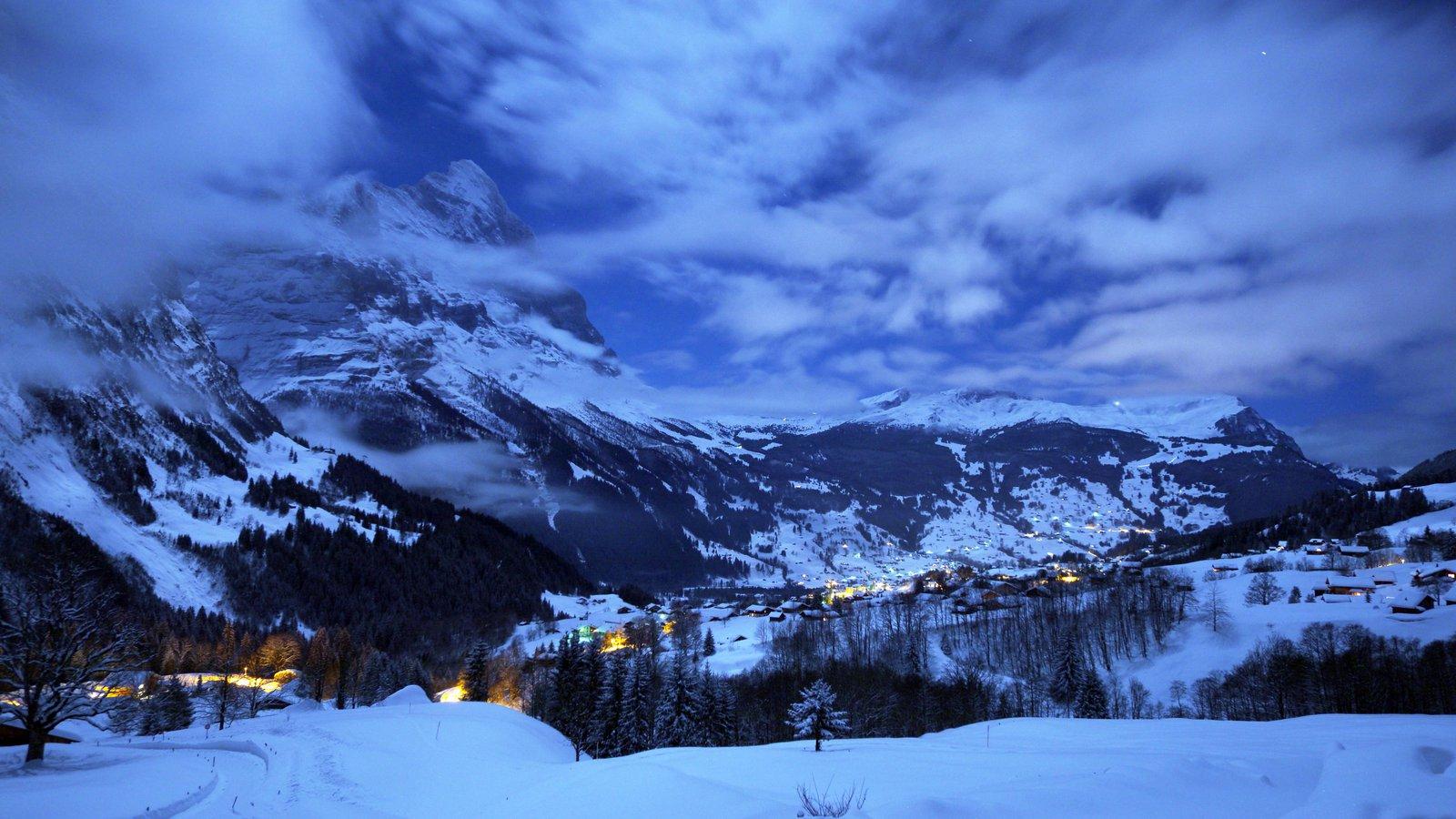 Night shot of Grindelwald