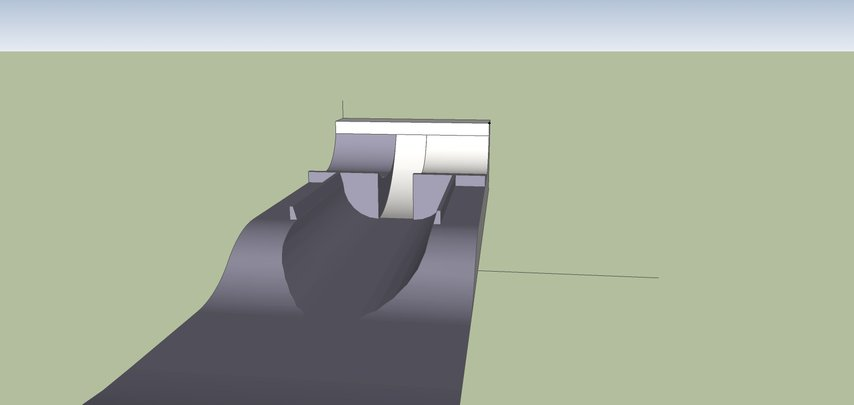 Park feature design axial view