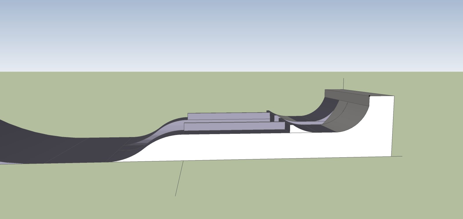 Park feature design side view