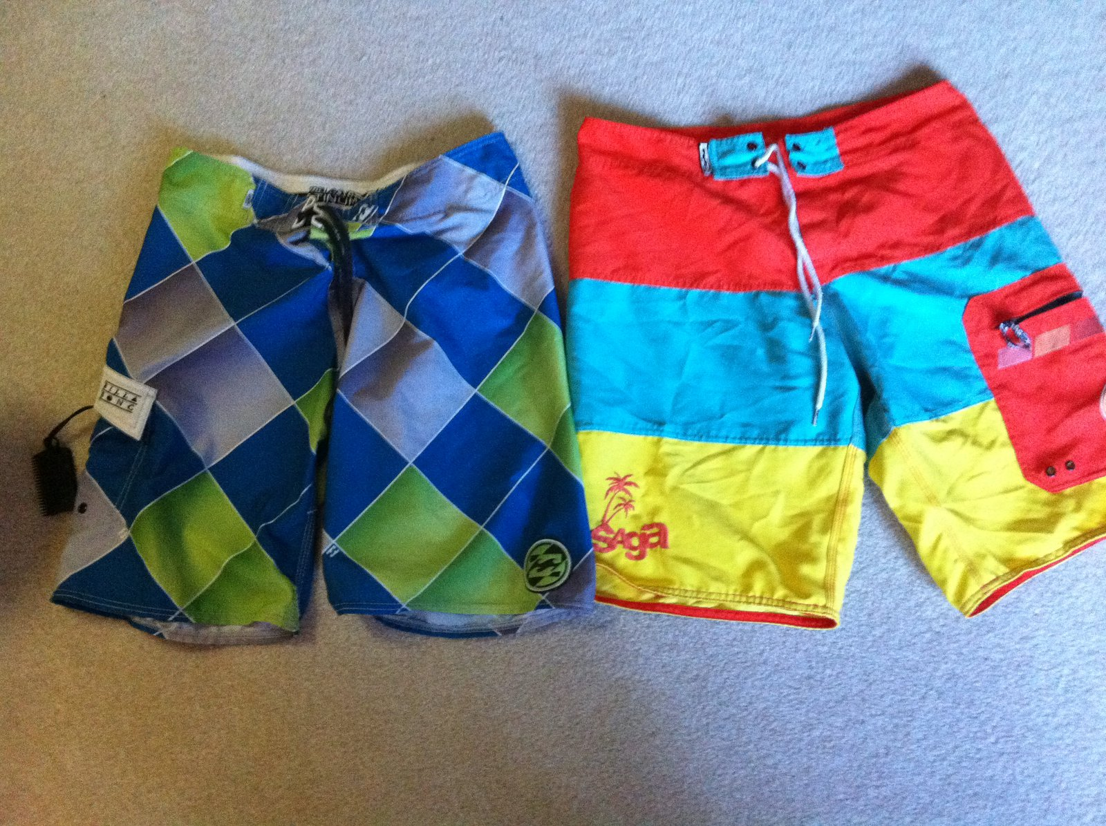 Saga board shorts 32 billabong 31