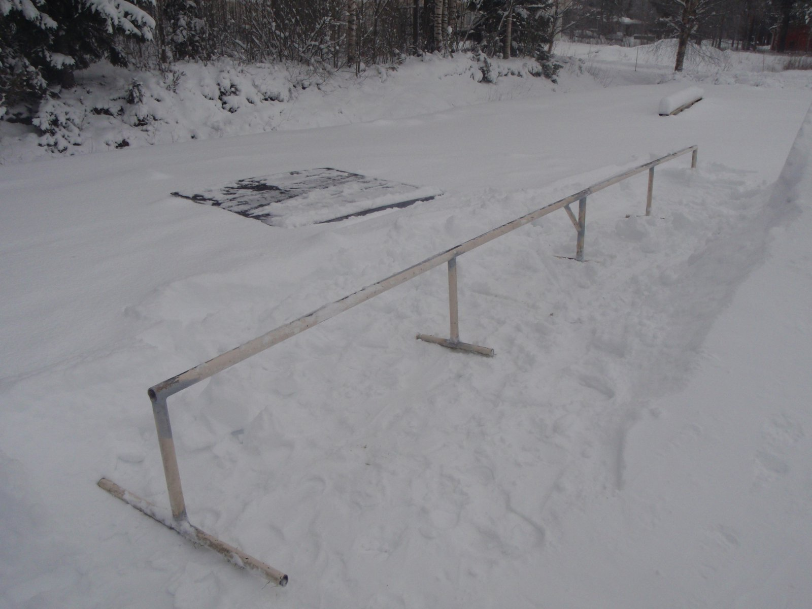 From football goal to rail