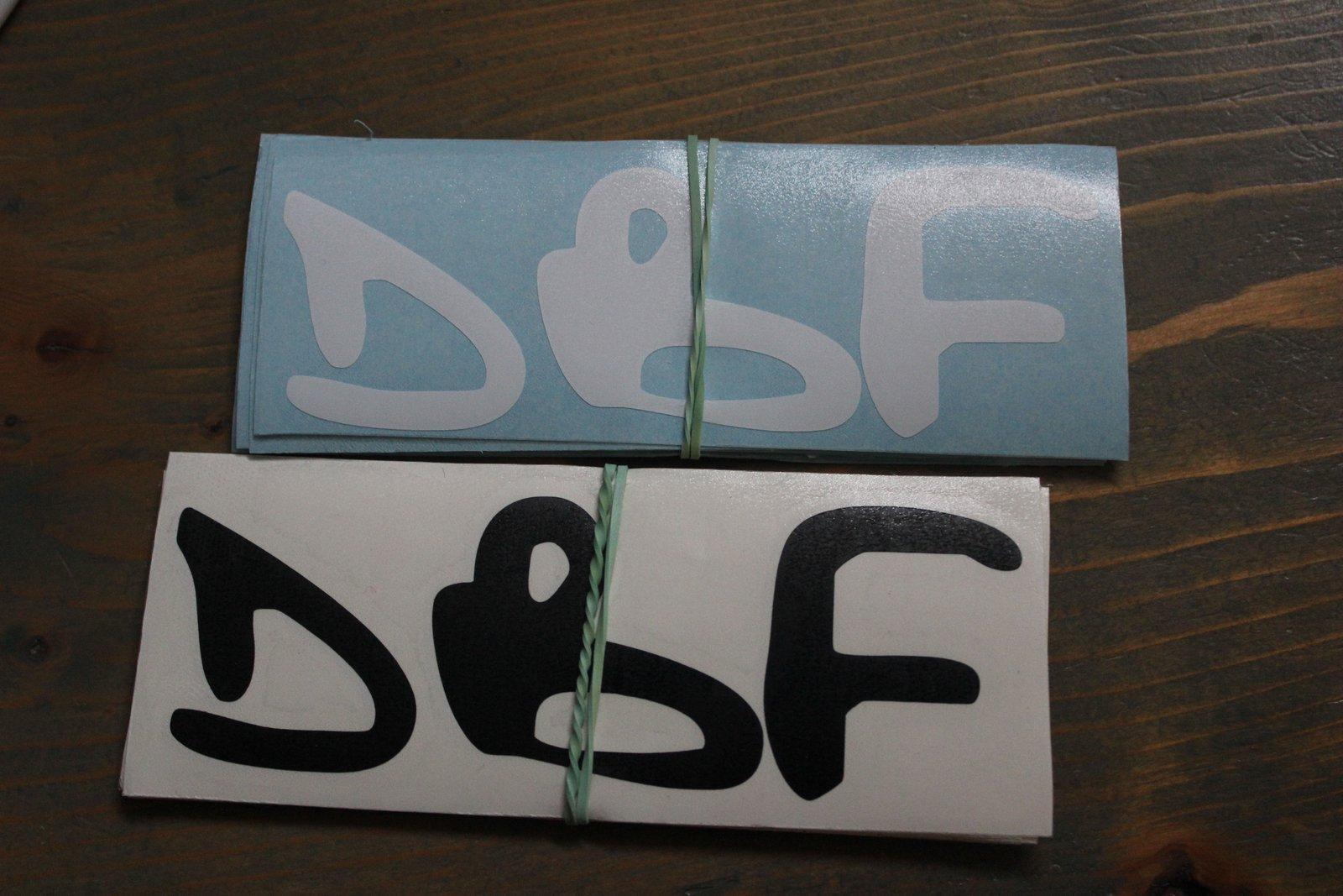 DBF Stickers
