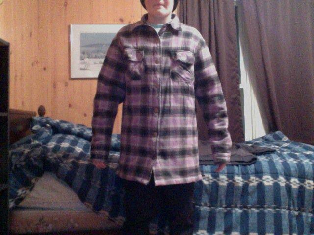 Jiberish royal flannel