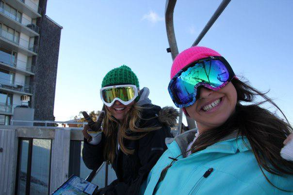 pheebs and i on the lift