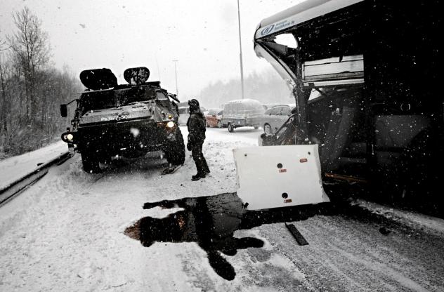APC vs. Bus in Snowstorm