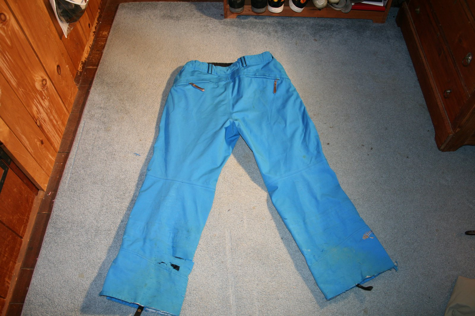 DNA blue pants back