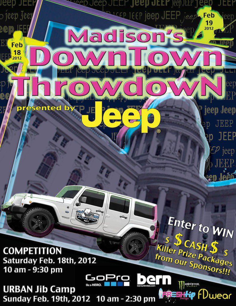 Flyer Jeep downtown throwdown