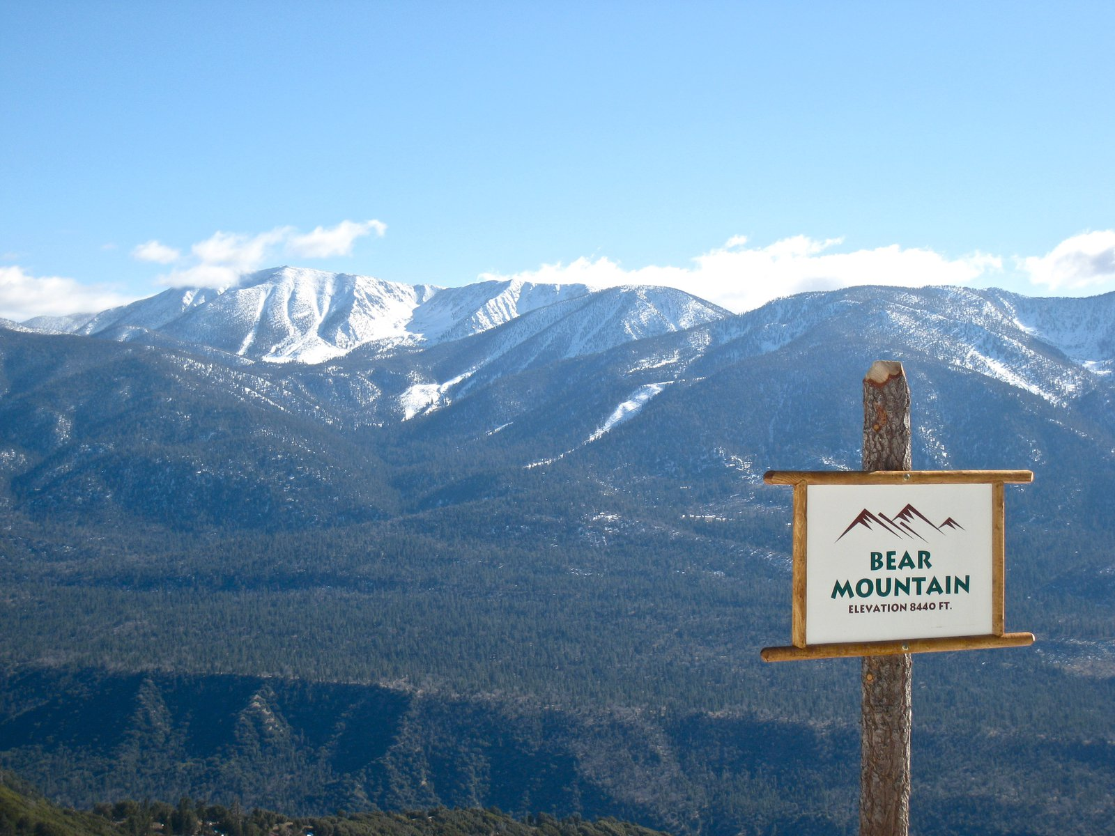 view from Bear summit