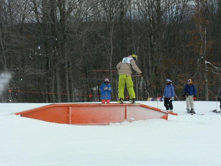 Ski Slide to Rail Slide Fat Up-Flat-Down Sequence