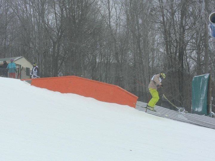 Ski Slide to Rail Slide Skinny Up-Flat-Down Sequence