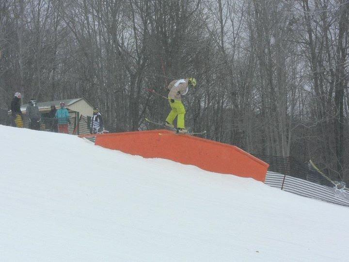 Ski Slide to Rail Slide Skinny Up-Flat-Down Sequence