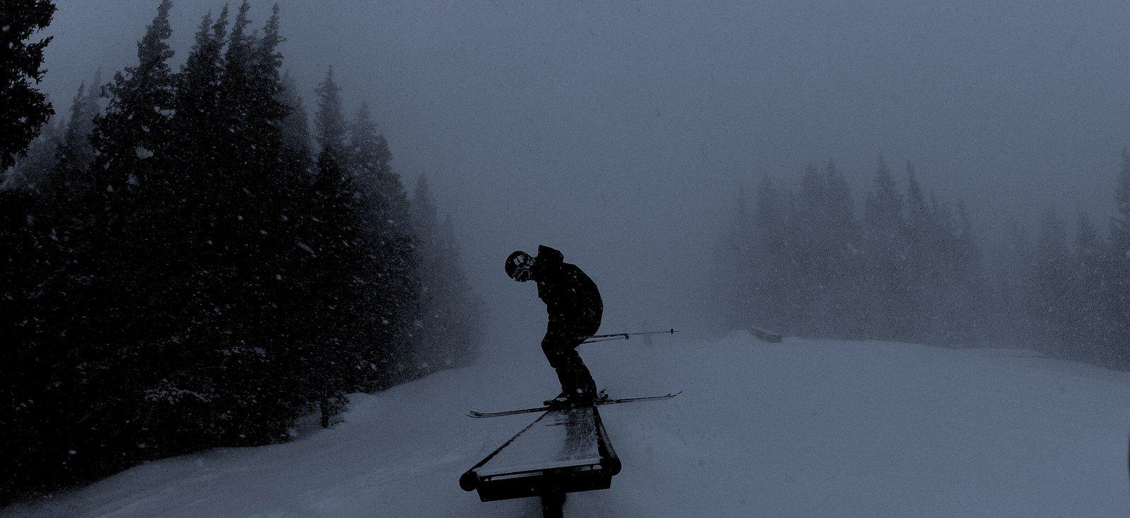 snowy park day