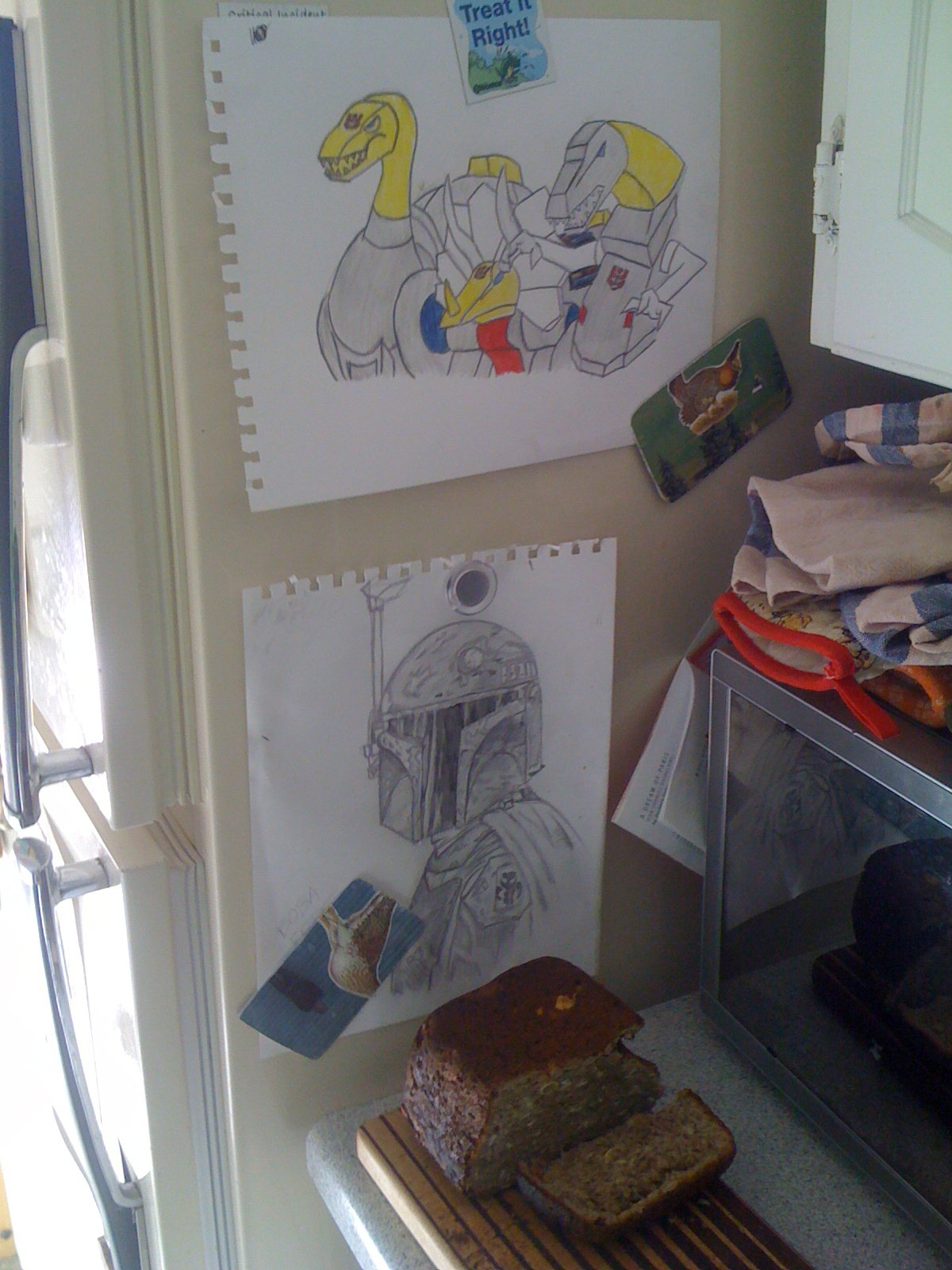 drawings for gf's fridge