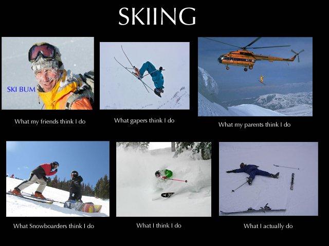 skiing meme