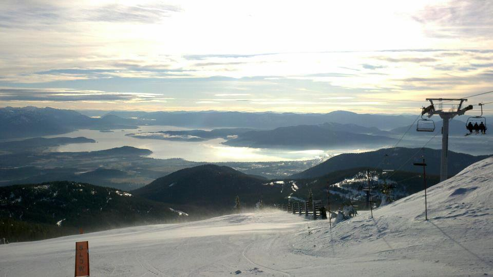 View from the top of the quad. Schweitzer Mountain