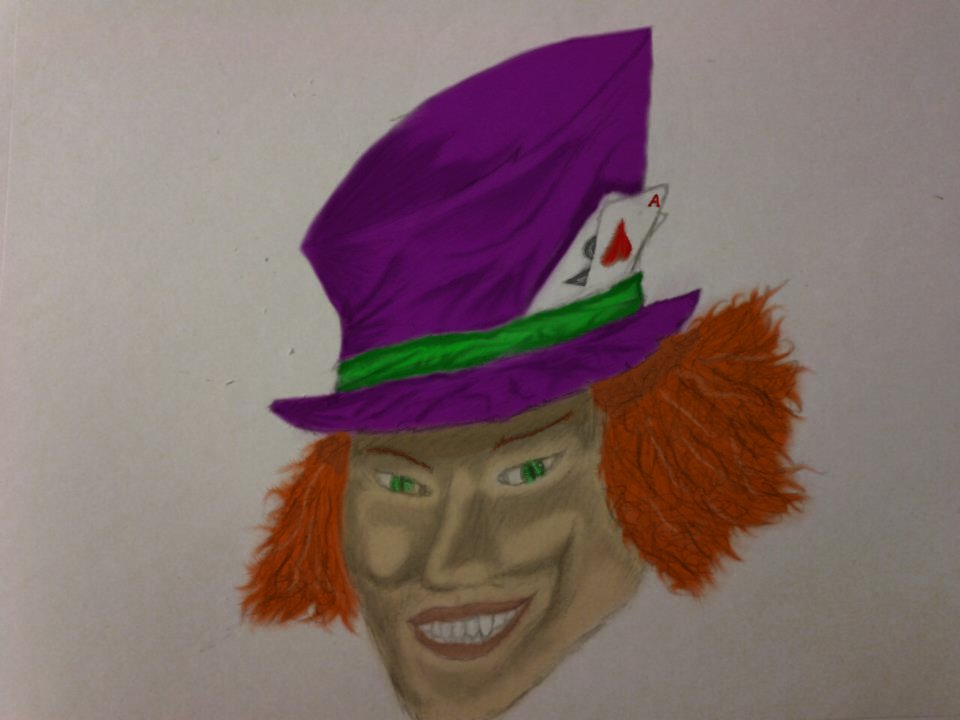 Mad Hatter Digitally Colored