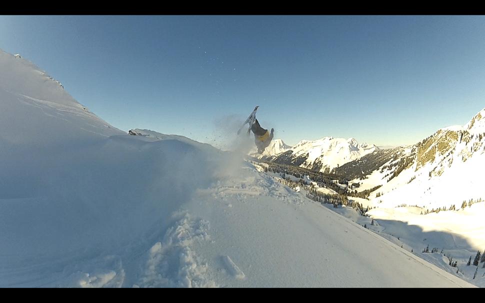 Powder Back Flip