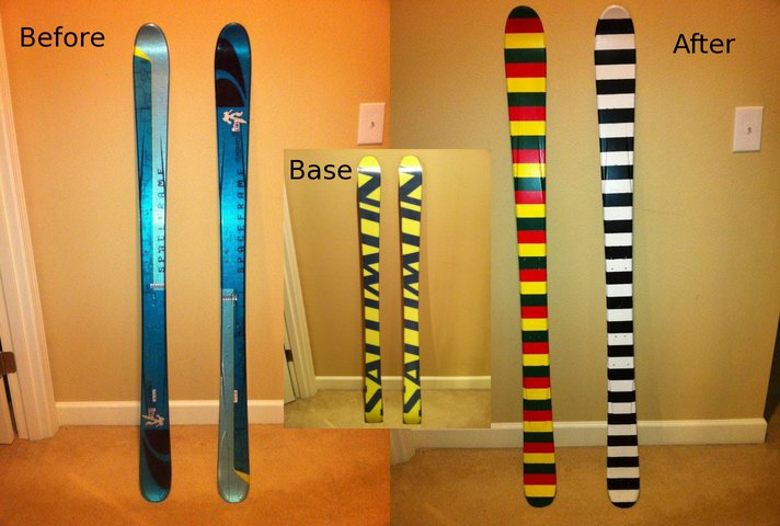 Painted my skis