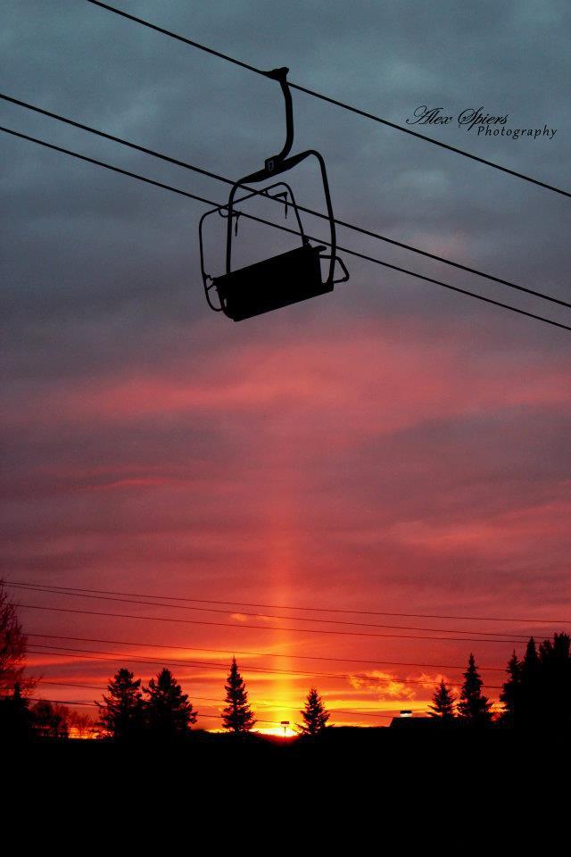 Chair lift sunrise