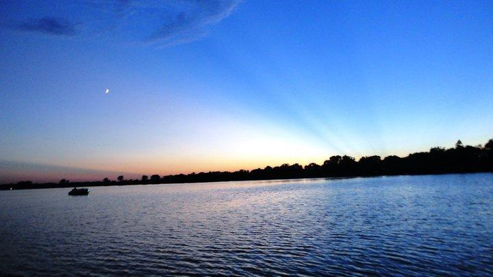 lake night july