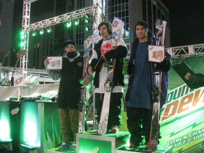 Max and Cam on podium