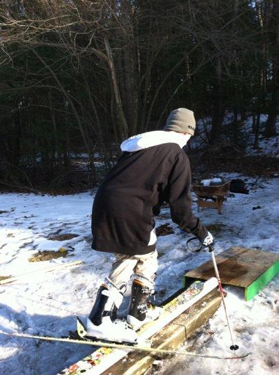 Ski slide to alien grind part 4