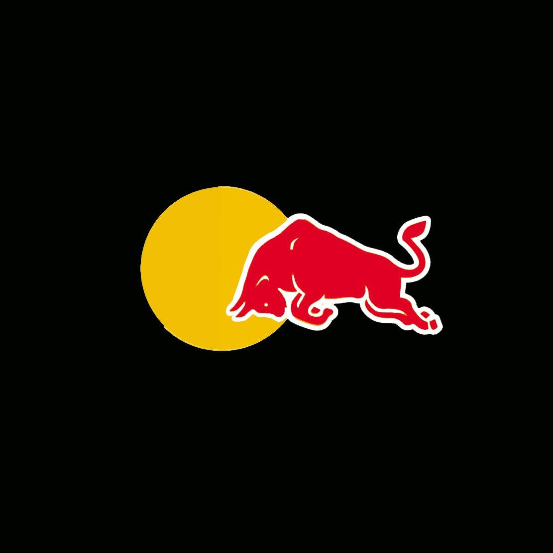 Half sun red bull logo