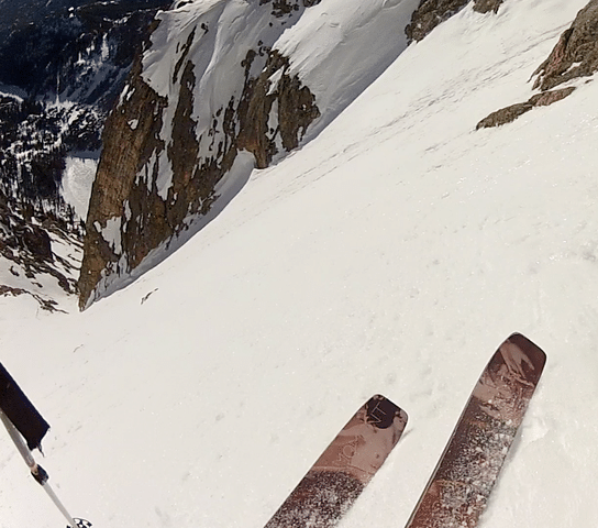Easing into Dragon's Tail Couloir