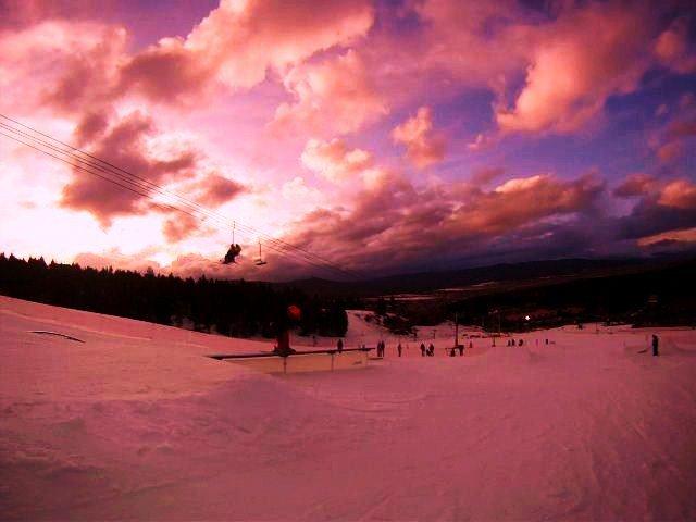 night skiing in NM
