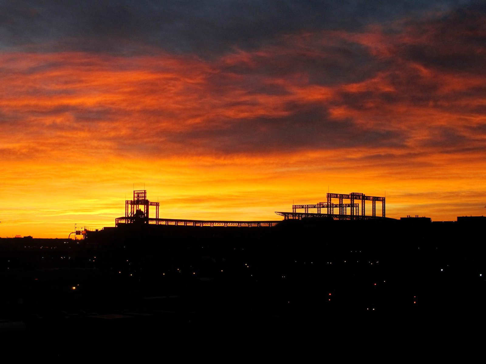 Sunrise over Coors Field