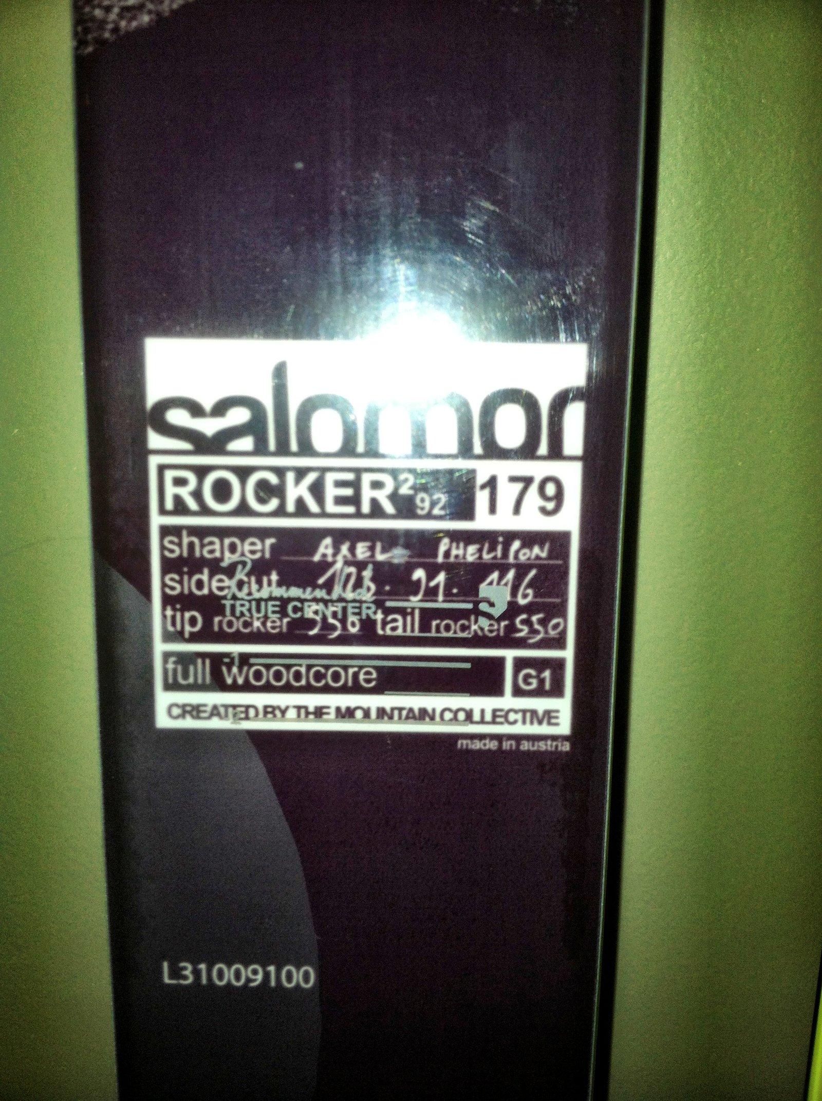Info of 2013 Rocker2 92s