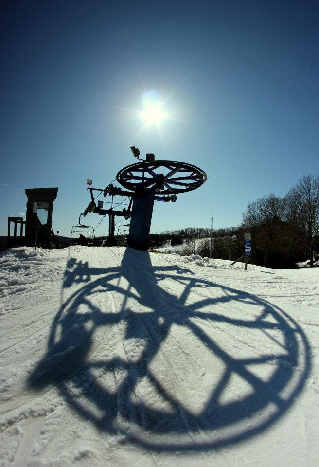 ski lift shadow