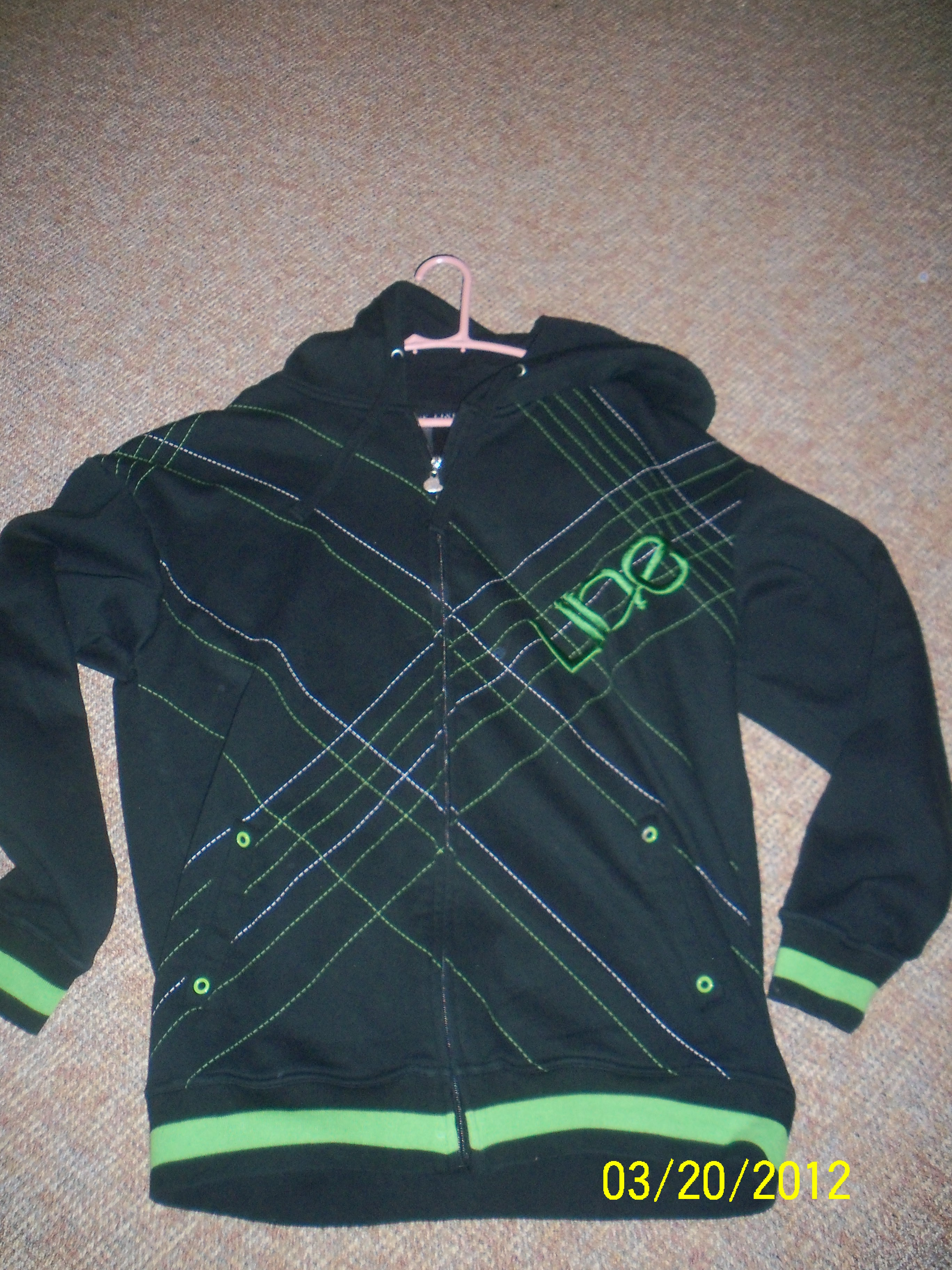 line foundation hoodie for sale LARGE