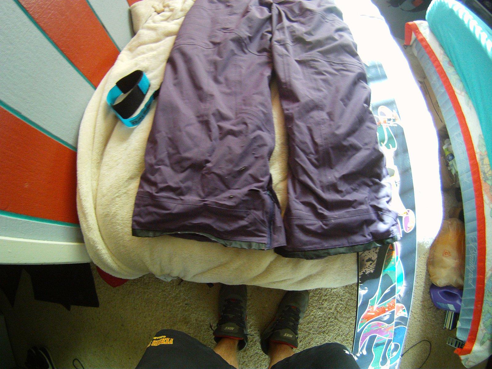 cuffs of purple pants