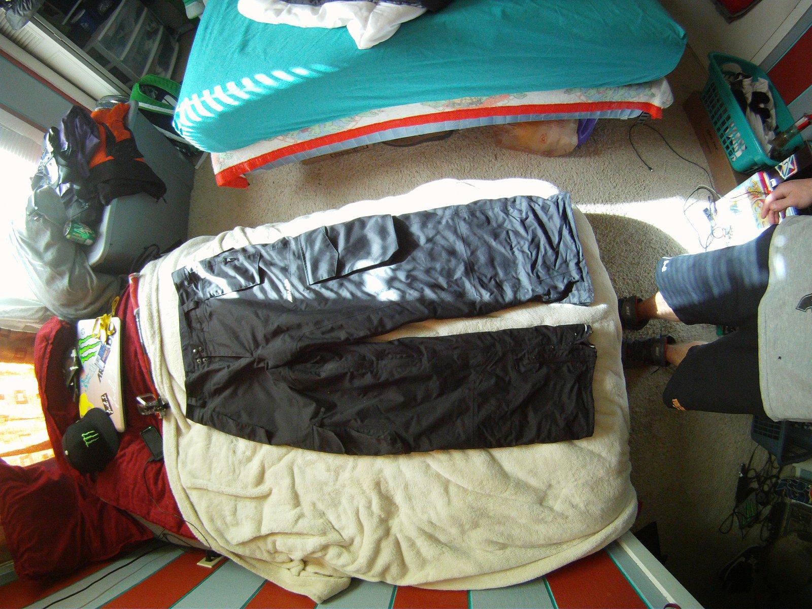 large black aramda pants