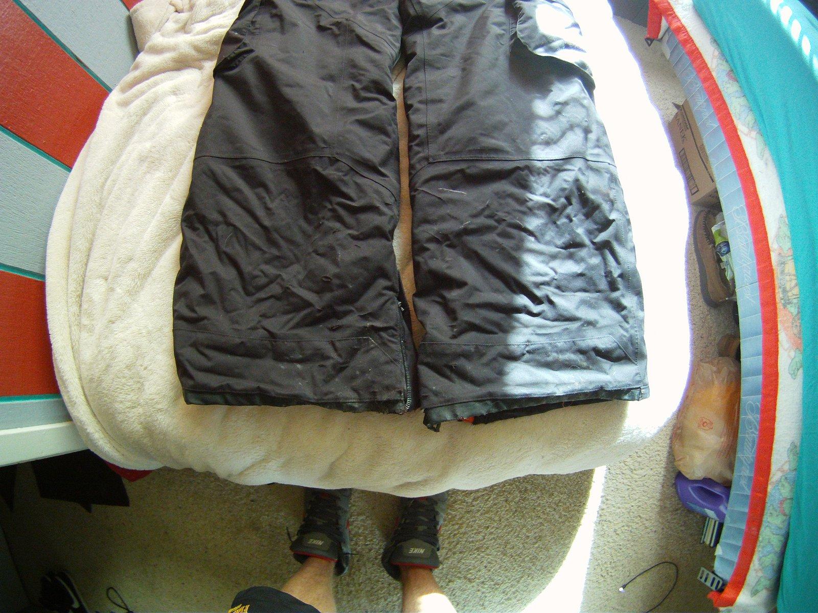 cuffs of black pants