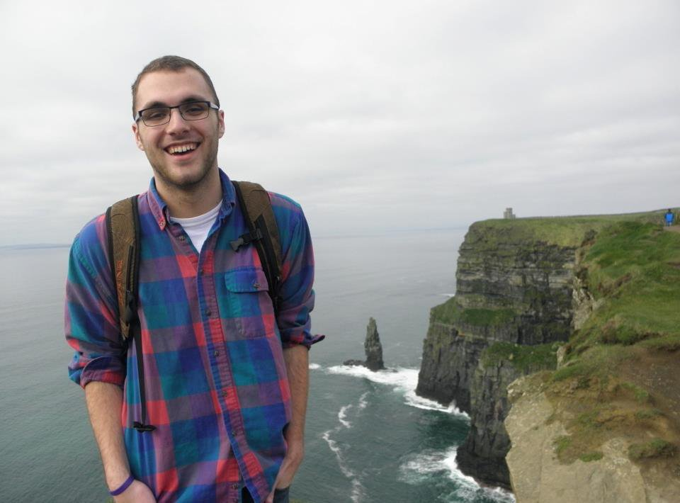 Cheesing at the Cliffs of Moher in Ireland
