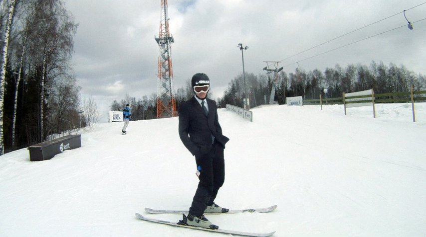 Skiing is serious business