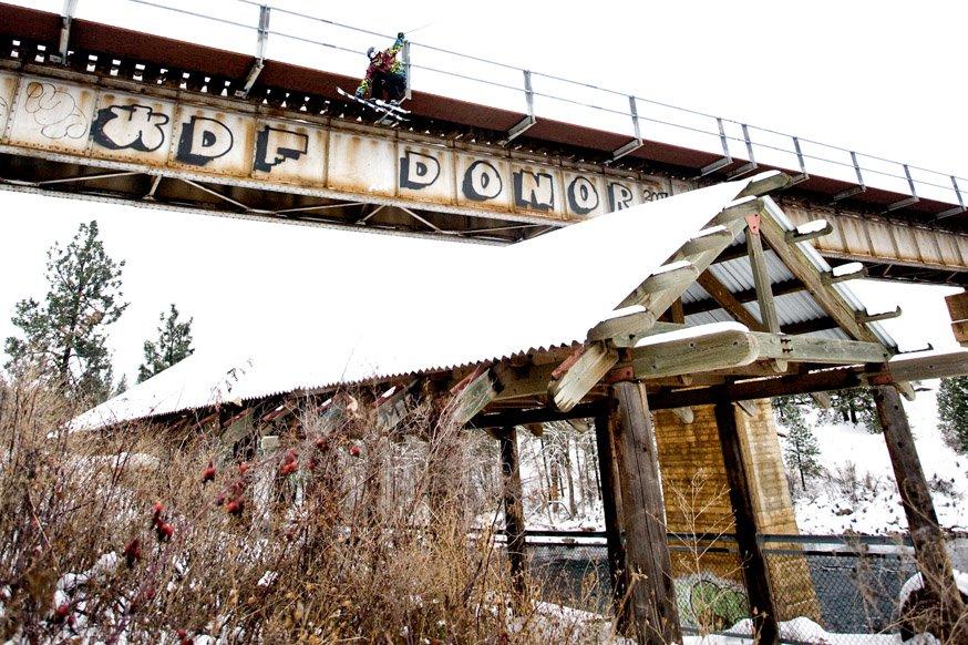 train bridge to roof drop