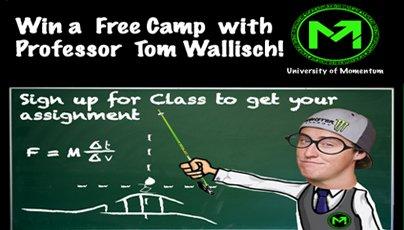 Win A Free Camp With ProfessorTom Wallisch