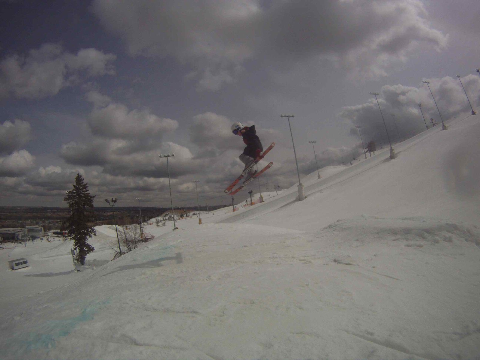 Luke does a jump