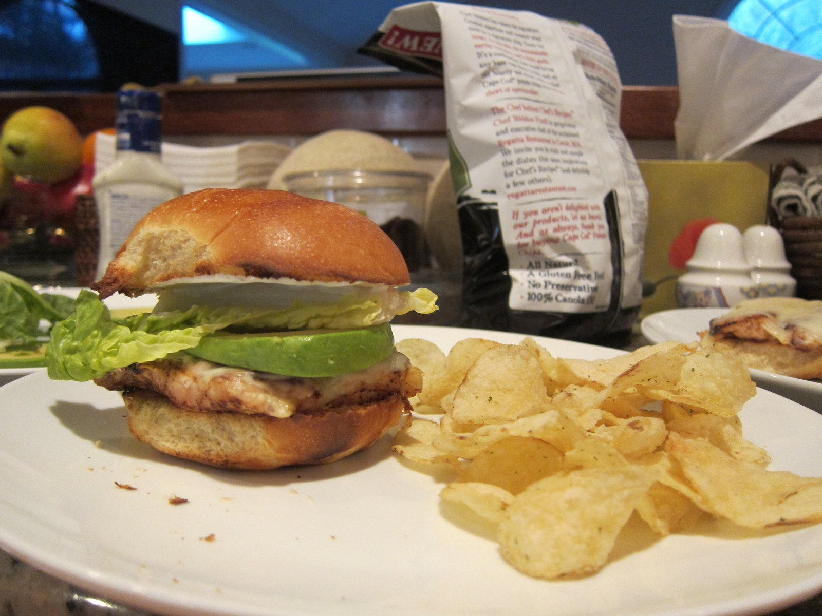 Avocado grilled chicken sandwich