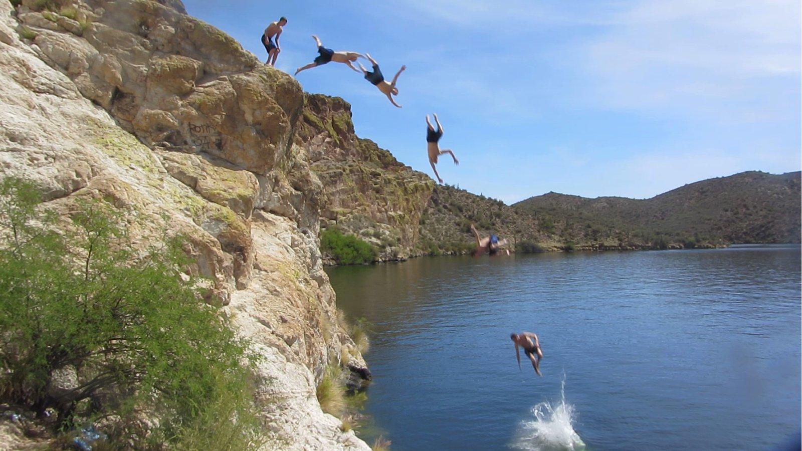 Saguaro Lake Cliff Jump