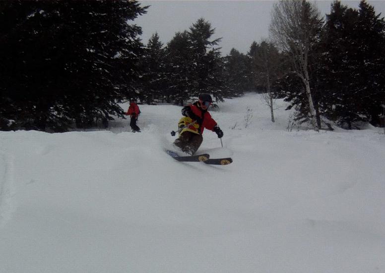 Shredding in Jackson Hole