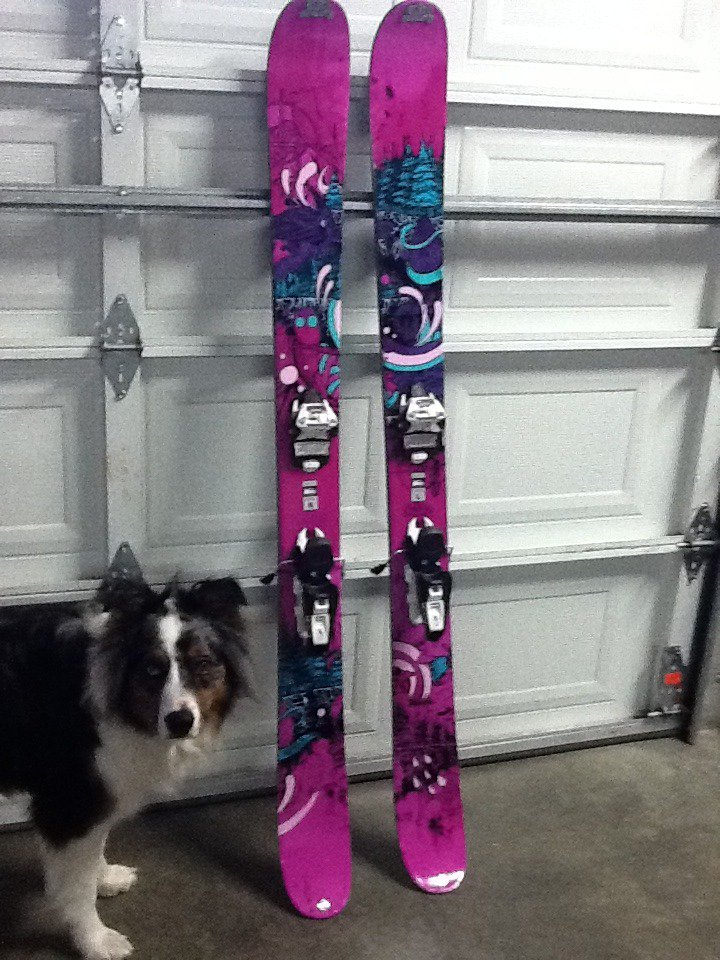 my new pow pow skis