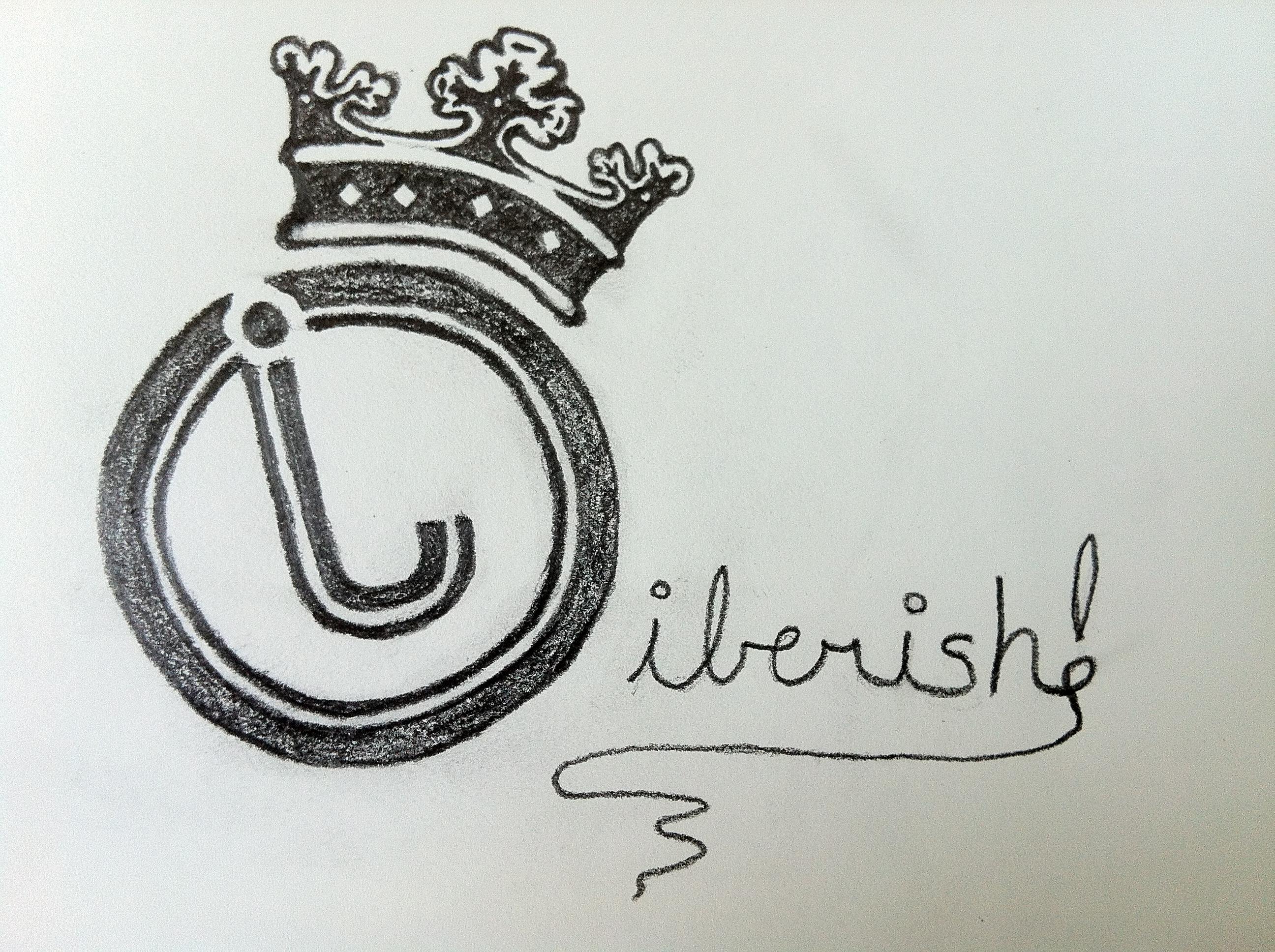 new jiberish cursive thread logo nonski gabber