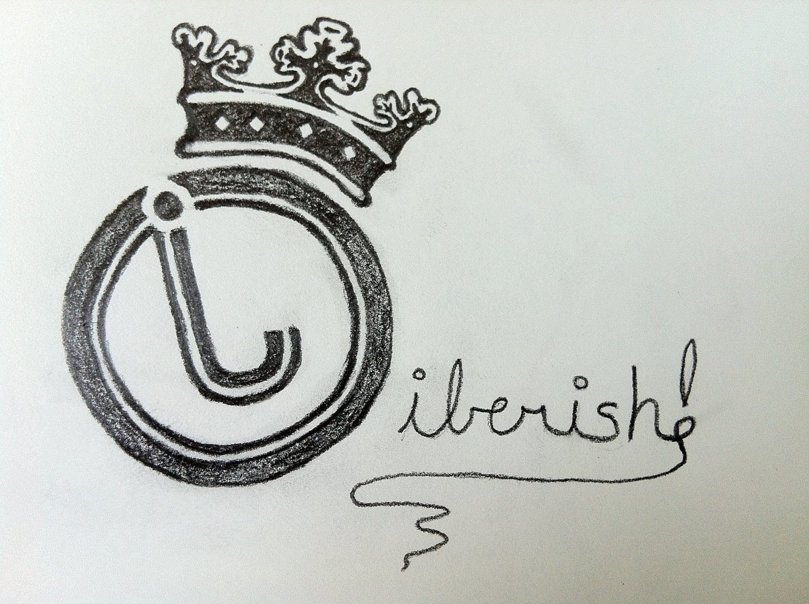 Jiberish Cursive Thread Logo
