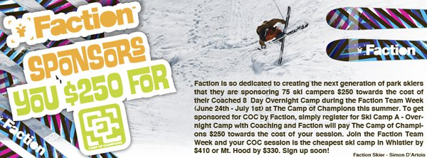 Candide Thovex at The Camp of Champions Faction Team Week
